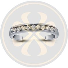 D(Clear) Diamond White Gold Over Wedding Adjustable Toe Ring For Women's #parasexports