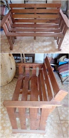 Graceful DIY Ideas with Recycled Wooden Pallets: According to some of the people, transforming and changing the old shipping pallets into some amazing concepts of the home furniture. Wood Pallet Crafts, Wood Pallet Planters, Wood Pallet Tables, Wood Pallet Furniture, Wooden Pallets, Pallet Projects, Pallet Benches, Diy Pallet, Pallet Ideas