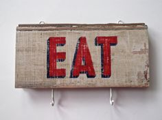 Hand Painted SIGN / ORGANIZER on Repurposed Wood by SimonSaysSigns, $35.00