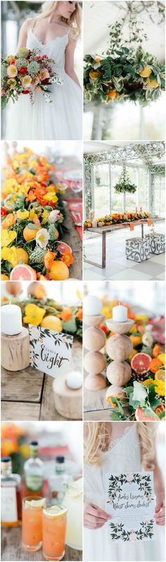 Fresh and totally gorgeous citrus wedding ideas inspired by a palette of lime, orange, green and coral!