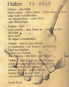 Halten | Erich Fried