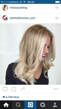 Honey white blonde balayge