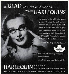 Harlequin glasses c.1940s