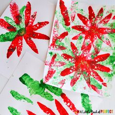 Sponges are easier for kids to hold and require less controlled movements compared to a paint brush making them a wonderful addition to arts and craft time. My toddler and preschooler loved stamping away with red and green paint making festive Christmas poinsettia paintings. If you are looking for an easy Christmas craft, you just …
