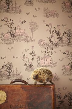 Woodlands Wallpaper Brown Pink by Sian Zeng  http://sianzeng.bigcartel.com/product/woodlands-wallpaper-brown-pink#