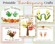 Thanksgiving Crafts for Toddlers, Handmade Thanksgiving Cards, Printable Gifts, Handprint Activities for Kids and Baby by HolaSunshineDesigns on Etsy Babys First Thanksgiving, Thanksgiving Crafts For Toddlers, Fall Preschool, Thanksgiving Crafts For Kids, Preschool Crafts, Daycare Crafts, Toddler Arts And Crafts, Baby Crafts, Fun Crafts
