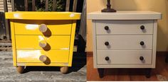 An 80's IKEA nightstand gets a facelift