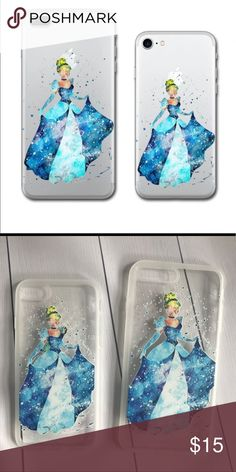 7 /7 Plus iPhone Princess Cinderella Case Disney's most popular princess Cinderella!! New never used. Silicone bendable case. ### Blue Dress, Castle, Disneyland, Disney World, glass slipper, Prince Charming, Blonde, cartoon character, classic, magic, movie, Accessories Phone Cases