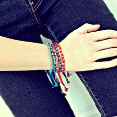 Knotted Friendship Bracelets #etsy #jewelry #bohemian