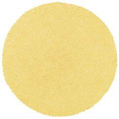 Yellow Shag Rug (5' Round)