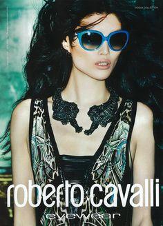 Sui He for Roberto Cavalli Eyewear S/S 13. Ph Mario Testino