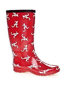 Campus Cruzerz Alabama Collegiate Rain Boot #belk #accessories