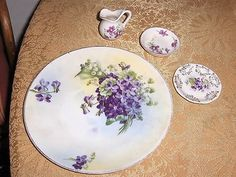 Royal Rudolstadt Prussia circa 1905-1920, beautiful violets