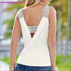 Blouse Sexy, Wrap Blouse, Sleeveless Outfit, Womens Sleeveless Tops, Style Casual, Trendy Style, Casual Chic, White V Necks, Women's Summer Fashion