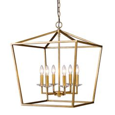 Acclaim Lighting Kennedy Antique Gold Six Light Chandelier On SALE