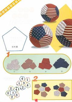 Cats Toys Ideas - Hexagon ball - Ideal toys for small catsThis is what I should do with my fat quarters - make weights for my sewing.Most inspiring pictures and photos!Hexagon ball - someone else who thinks a pentagon is a hexagon . Baby Crafts, Felt Crafts, Fabric Crafts, Crafts For Kids, Paper Crafts, Baby Sewing Projects, Sewing For Kids, Sewing Toys, Sewing Crafts