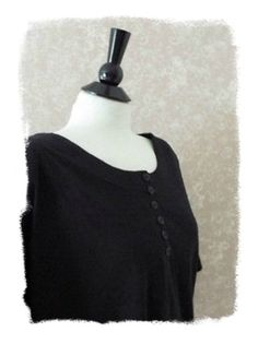 NEW Knit Top Plus Size 2X Black Blouse Short Sleeve Tee Steffano Womens 18 20 #TSUSPHQ
