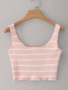 To find out about the Striped Print Crop Knit Top at SHEIN, part of our latest Knit Tops ready to shop online today! Girls Fashion Clothes, Teen Fashion Outfits, Outfits For Teens, Girl Outfits, Cropped Tops, Cute Crop Tops, Teen Crop Tops, Crop Top Outfits, Cute Casual Outfits