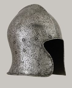 This is a steel Barbute found it Italy.  ca. 1470-1480. I found this at http://www.metmuseum.org/toah/works-of-art/04.3.232