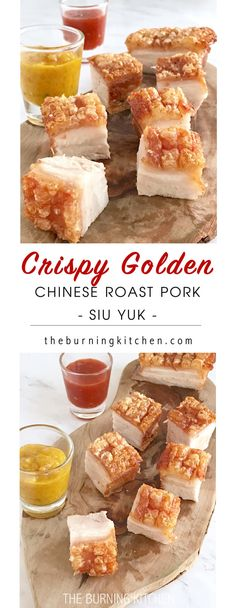 Crispy Pork Belly is probably everyone's favourite Cantonese roast meat! The skin is so crispy golden you can hear the crunch as you bite into it, and the meat is so moist and succulent. Its so yummy, I guarantee you won't be stopping at just one piece!