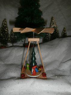 Vintage Christmas Germany carousel pyramid by SaintNicksTreasures