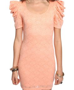 Puffed Shoulder Lace Dress | FOREVER21