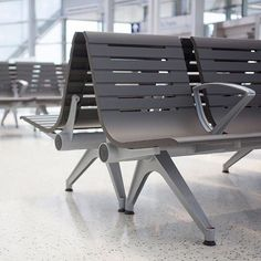 A recipe for durable design: combine solid cast aluminum frames with a powdercoat finish  .  .  .  #durabledesign #materialsmatter #castaluminum #powdercoat #architectural #architecturalproducts #benches #seating #transportationhub #finishes #furnishings #recyclable