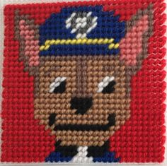Cross Stitch Paw Patrol (CHASE) by Marcelle Powell ❤️