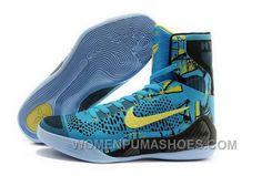 ddb7ff8afedd Buy Cheap Nike Kobe 9 High 2015 Blue Yellow Black Mens Shoes Best CAMmi
