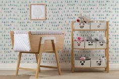 conjunto de muebles de bebé de madera