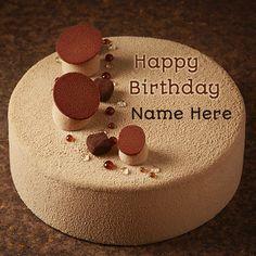 Cappuccino Soft Almond Creamy Caramel Cake With Name.Write Name on Cappuccino Birthday Cake.Personalize Creamy Caramel Cake With Your Name.Create Birthday Cake