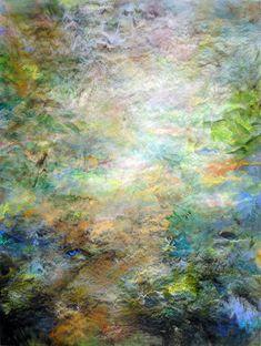 Energy Field & Garden, acrylic/panel, 40″ x 30″, available