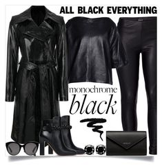 """All black"" by pelagianath on Polyvore featuring Venus, Valentino, Isabel Marant, Helmut Lang, Balenciaga, Gucci and allblackoutfit"