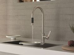Miscelatore da cucina da piano monoforo Collezione Tara Ultra by Dornbracht | design Sieger Design