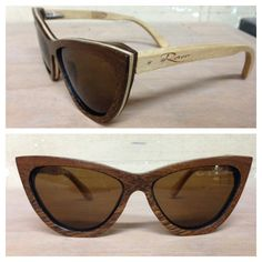NEW Camuy Model Acacia and Laurel Wood sandwich wooden sunglasses RAW Eyewear