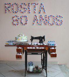 #mesa #aniversário #decoração #costura