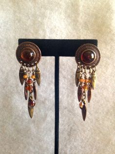 Vintage Native American  Copper tone Clip by CoCoBlueTreasures