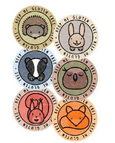 Woodland Pack – Keep Me Gluten Free Stickers – Free Stickers, Food Packaging, Woodland Animals, Goodies, Packing, Gluten Free, Forest Animals, Sweet Like Candy, Bag Packaging