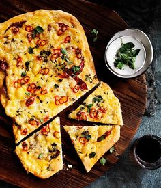 Four-cheese and sopressa pizza with chilli :: Gourmet Traveller