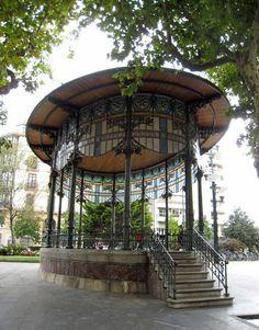 SAN SEBASTIAN -  kiosque à musique, Boulevard Aldapa