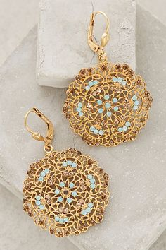FILIGREE CIRCLET DROPS #anthrofave #earrings