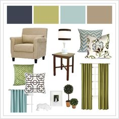navy green light blue taupe...my living room colours!!