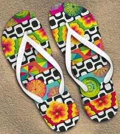 Ipanema-Leblon | pattern applied in sandals