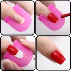 Must Have for Every Style Conscious Woman! Product Description: - No more hassles, no more mess. Just get it done with easy and style! - Perfect Nail art practice tool, made of soft plastic gives you Nail Art Diy, Easy Nail Art, Diy Nails, Cute Nails, Nail Art Designs, Christmas Manicure, Clean Nails, French Tip Nails, Manicure Tools
