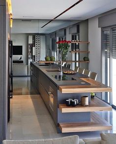 √ Rustic Dining Room Table You Wish To See Sooner - Page 19 of 31 - KitchenRemodel. Kitchen Units, Beautiful Kitchens, Kitchen Cabinet Design, Beautiful Kitchen Designs, Rustic Dining Room Table, Interior Design Kitchen, Home Kitchens, Rustic Dining Room, Kitchen Design
