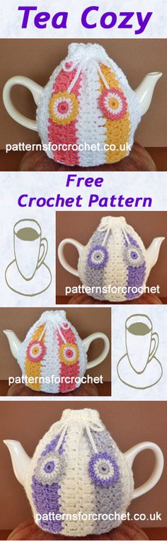Free crochet pattern for Tea-Cozy. #crochet