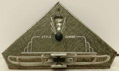"Vintage 1937 Art Deco Nu-Dell Mfg. Co. ""Style Chart"" 8 Rack Men's Tie Holder NOS #NeckTie"