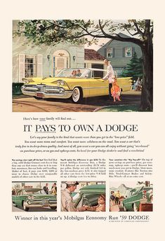 VINTAGE DODGE CAR Ad Vintage Car Poster by EncorePrintSociety