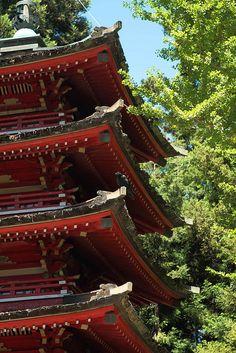 Pagodas at San Francisco Tea Garden at Golden Gate Park