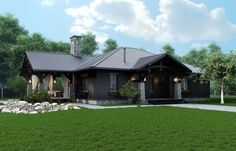 Chic Rustic Home on Wooded Lot - http://www.usualhouse.com/chic-rustic-home-on-wooded-lot/